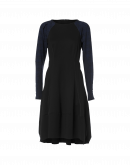 COMPULSIVE: Black jersey dress with check sleeves