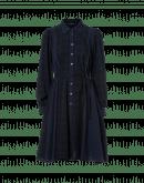CONVERT: Plain navy and check shirtwaist dress