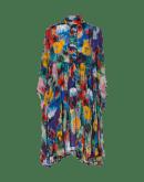 CALM: Abito a camicia con motivo floreale astratto