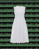 DIVINE: Weißes Kleid mit gestickten Bändern