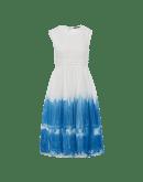 COQUETTE: Kleid mit blauem Batikfarbton