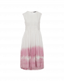 COQUETTE: Sleeveless dress with pink tie dye hem