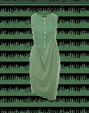 SURPRISING: Kleid mit hellgrünem Jersey-Oberteil