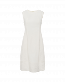 EXPRESSIVE: Ivory sleeveless bell shape shift dress