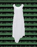 ALTER-EGO: Abito in jersey di rayon con drappeggio asimmetrico