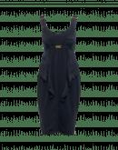 FASCINATE: Abito aderente in jersey con inserti in cupro