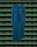 REVELATION: Abito manica lunga con corpetto drappeggiato