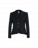 INFORM: Pleated back jacket in navy twill