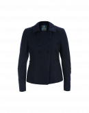 OPPOSE: Double breasted jacket in navy brushed wool cotton