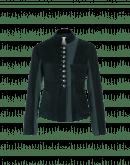 CRAVE: Stand collar jacket in dark green corduroy
