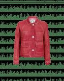 VENTURE: Brick red denim work jacket