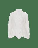 HITHERTO: Giacca leggera con balze color crema