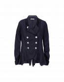 HITHERTO: Navy double breasted shirt jacket