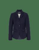INTELLIGENT: Short shaped jacket in navy twill