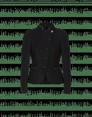 AWESOME: Giacca corta nera con dettagli dorati