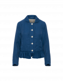 GO-YONDER: Blaue Jacke mit Volants