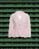 CAPRICE: Lightweight jacket in light pink silk seersucker