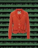 SET-OUT: Giacca color albicocca con pieghe multiple