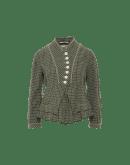 PROMISING: Dark green micro check jacket