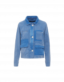 VENTURE: Work jacket in faded and shaded blue twill