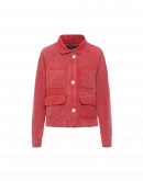 VENTURE: Work jacket in faded and shaded red twill