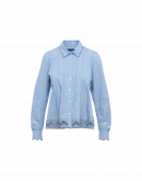 TABLEAUX: Camicia in popeline chambray con pizzo