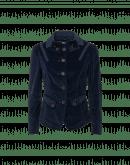 WINSOME: Giacca aderente in velluto a coste elasticizzato blu navy
