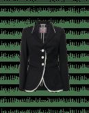 CLARIFY: Giacca nera aderente in twill di lana