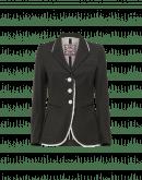 CLARIFY: Giacca verde oliva scuro aderente in twill di lana