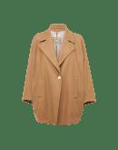 OVERTURN: Cappotto corto color cammello