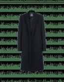 ENTICE: Cappotto in twill blu navy senza chiusura