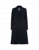 IN AWE: Cappotto blu navy con inserti in costina
