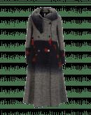 PLURAL: Cappotto lungo con collo a scialle e motivo floreale