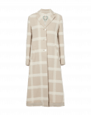 EXACT: Long beige and cream check coat