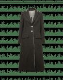 ENVELOP: Cappotto lungo ad A in misto lana cashmere verde oliva