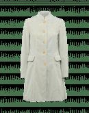CHEERFUL: Cappotto 3/4 con collo alla coreana in velluto celeste