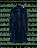 CHEERFUL: Cappotto 3/4 con collo alla coreana in velluto blu notte