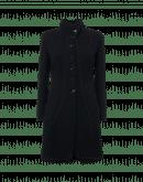 STRIKING: Cappotto sartoriale in jersey con collo in piedi