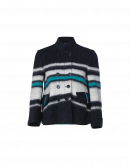 "ARRIVAL: Short striped ""blanket"" jersey jacket"