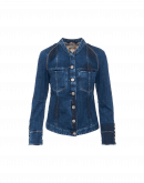 COAX: Jeans jacket in shadow blue denim