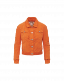 DECISIVE: Jeans style jacket in bright apricot twill