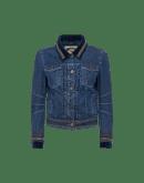 DECISIVE: Giacca stile jeans con passamaneria in velluto