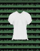 YELP: Camicia bianca con ricamo e maniche ad aletta