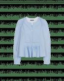 AMICABLE: Weite Bluse mit Falten an der Vorderseite