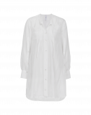 "JOIN UP: White silk ""smock"" shirt"