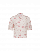 INSIGHT: Short sleeve pink and cream floral shirt