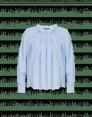 FLUTTER: Raglan sleeve shirt with ruffle collar