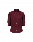 SCRUPLE: Burgundy button-down shirt