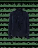 CULTURED: Camicia con balze frontali color blu navy