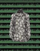 DECEPTION: Halbdurchsichtige Bluse mit hohem Kragen und Blumenmuster